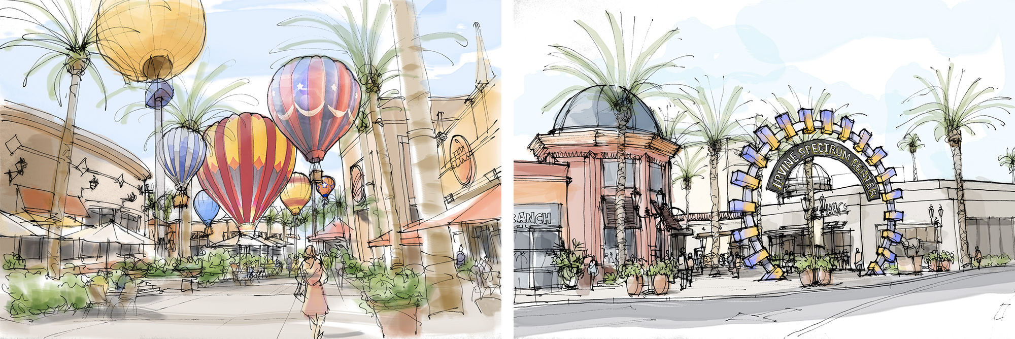 Irvine Spectrum Center Concept Sketches
