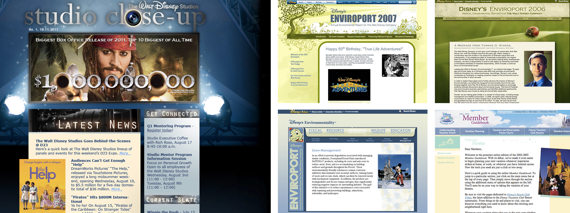 Websites and Email Campaign - The Walt Disney Company